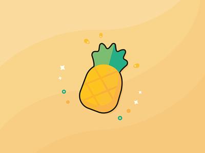 Pineapple graphic design punch sour hawaii sweet tropical fruit pineapple vector summer artwork digital illustration digital art art illustration design