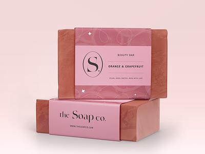 the Soap co. mockups fruit pink brand designer lable packaging soap packaging soap graphic design brand design brand branding logo artwork digital illustration digital art art illustration design