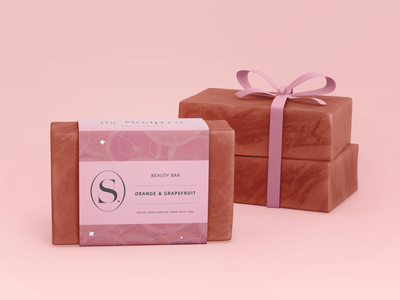 the Saop co. #2 mockups lable soap packaging packaging pink brand packaging brand designer brand soap branding logo artwork art digital illustration digital art illustration design