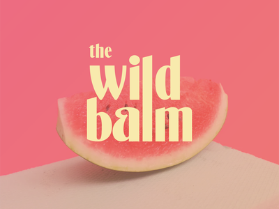 The Wild Balm - lip Balm #3 unsplash mockups lip balm watermelon logo designer logos brand identity photography logo vector ui branding artwork digital illustration digital art art illustration design