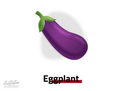 eggplant illustration purple logo ui flat vegetarian eggplant vector minimal illustrator art illustration dribbble design