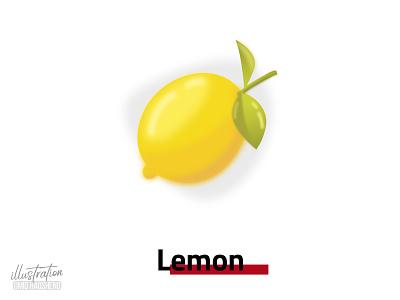 lemon illustration lemonade yellow fruit lemon ui vector minimal illustrator flat art dribbble design illustration