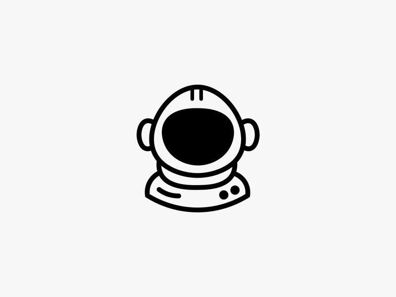 Astronaut illustration icon universe space stellar astronaut