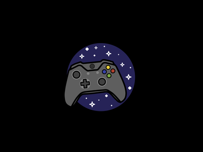 Space Game Vibes universe xbox controller joystick stars space