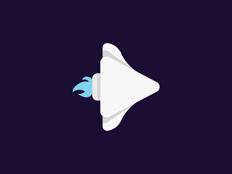 The Rocket rocket spaceship vector illustration icon logo space