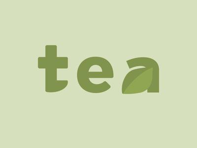 Tea logotype logo graphic design green vector illustrator leaves nature tea