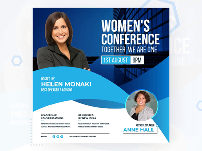 Women Conference Animated Social Banner Design agency virtual banner animated svg moving gif banner instagram banner promotional design social media banner animatedbanner conference host women conference animatedgif banner event banner conference