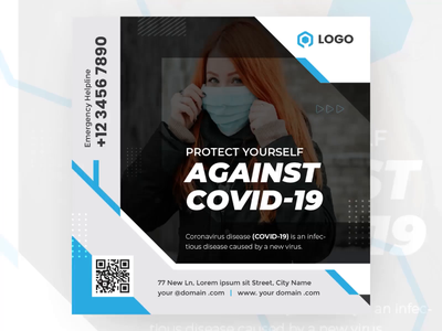 Covid 19 Animated Social Banner Design trendy animation banner aftereffects advertisement design gif design gifanimation banner design animated gif animated corona virus animated banner covid19