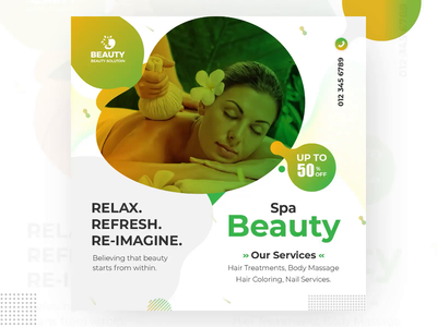 Beauty Spa Animated Social Banner Design banner graphic aabbro promotional banner promotional design social media design animation gif animated gif banner design animated gif beauty spa animated banner