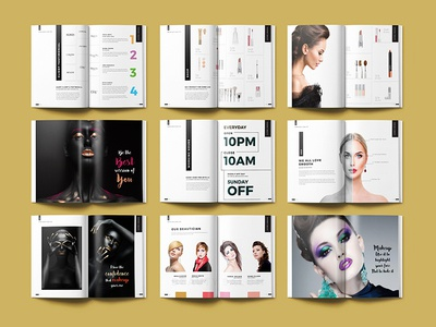 Beauty Magazine Design-Catalog Design