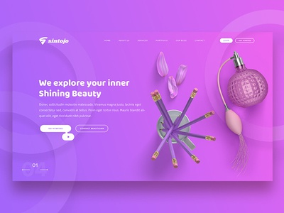 Beauty Header Design Concept