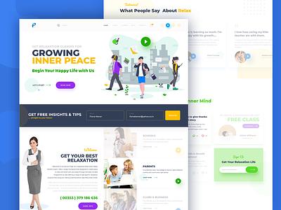Teaching Kids Website design branding design illustration vector apps screen ui designer website design ui design kids teaching agency website