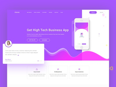 Landing page app template