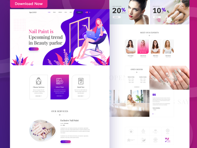 Beauty Parlor and Salon Business website template beauty app beauty and the beast ecommerce ux design apps design parlor massage therapy massage spa salon app beauty parlor beauty product beauty beauty salon beauty logo