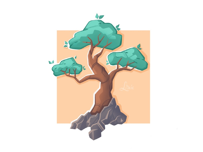 Tree дизайн raster nature tree procreate illustration иллюстрация design