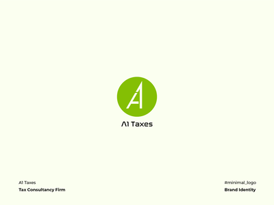 A1 Taxes Logo lettermark typogaphy graphic design minimal corporate identity vector branding logo design iconography firm consultancy tax a1