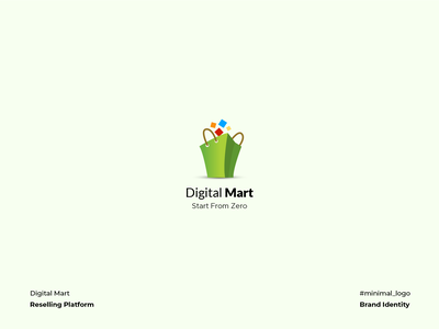Digital Mart Logo vector iconography corporate identity branding logo design minimal graphic design illustration bag ecommerce reselling mart digital