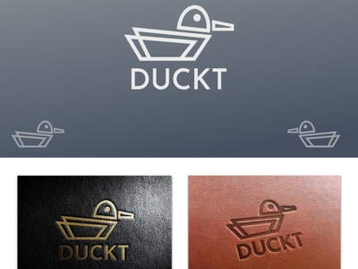 DUCKT leather apparel & accessories brand... leather apparel animal minimal minimalist geometric duck logo