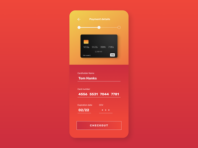 Daily UI - Credit Card Checkout credit card checkout mobile mobile ui uxdesign ux dailyui ui design ui
