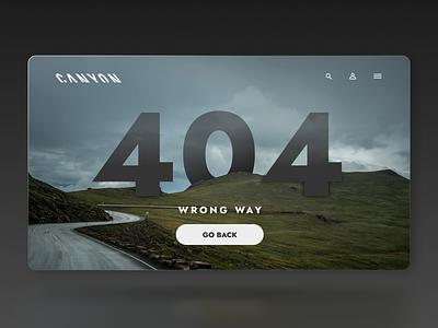 Daily UI - 404 Page figma desktop ux canyon ux design ui design dailyuichallenge dailyui ui