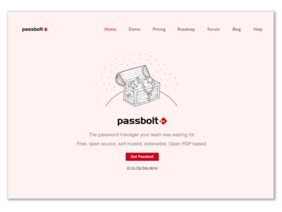 Passbolt Homepage Design