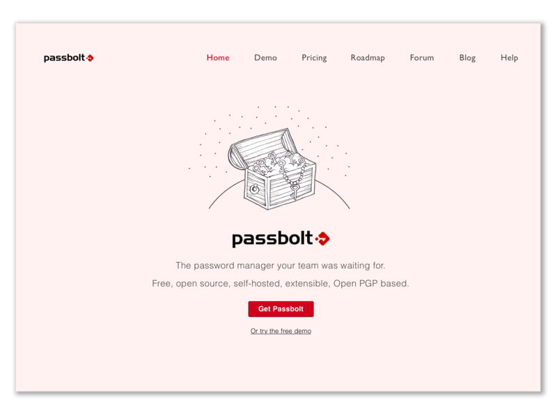 Passbolt Homepage Design new concept ui  ux design homepage design illustration ui digital design
