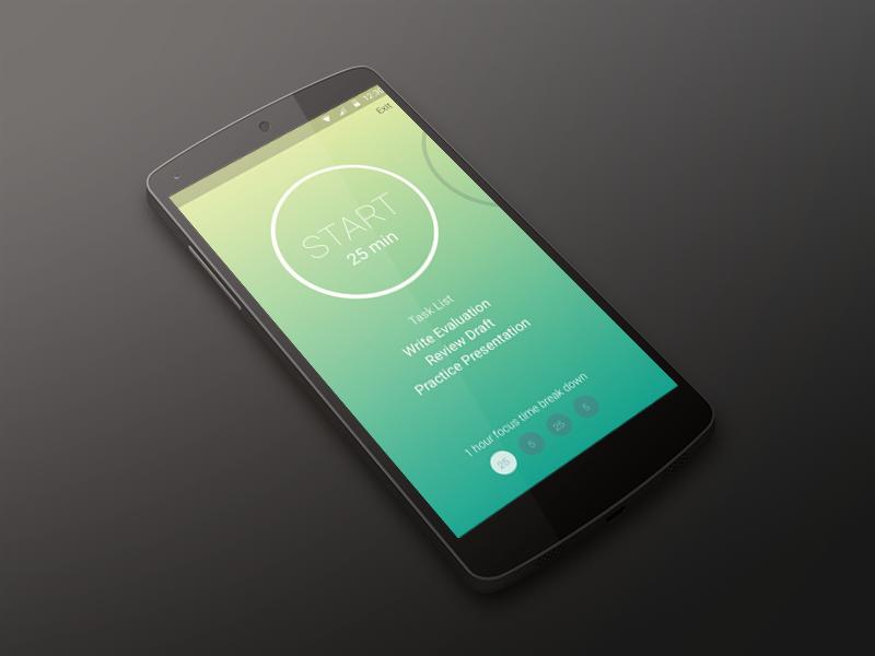 Focus Coach app ui android