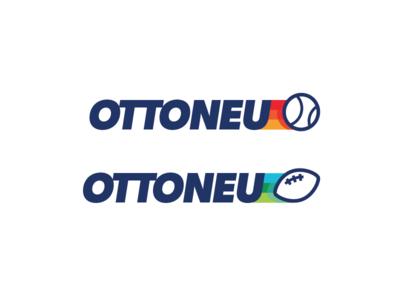Early logo idea for ottoneu fantasy sports concept logo