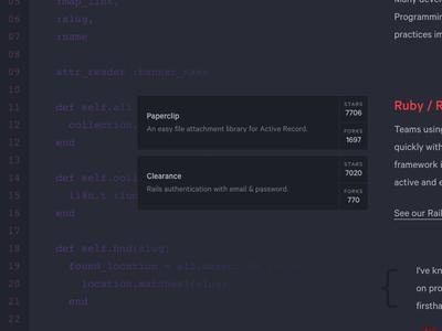 Dark open source development code dark ui
