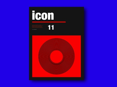 icon Typography Poster
