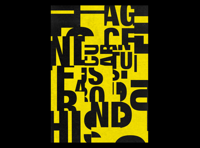Abstract typography poster