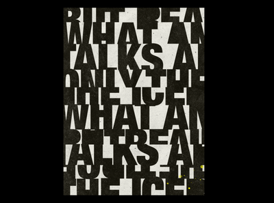Abstract typography poster 02