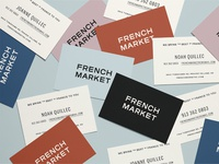 French Market Business Cards