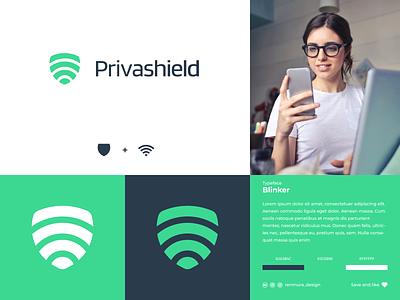 Privashield | Logo Concept branding brand identity vector visual identity minimal logo logogram logo design logodesign logo design