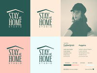 Stay at Home Studio   Logo Concept physicaldistancing covid19 stayhome stayathome branding design wordmark retro logo brand identity visual identity branding logo design logodesign design logo
