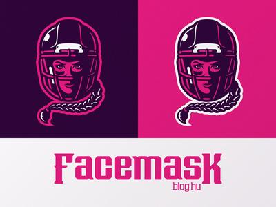 Facemask.blog.hu logo color variations