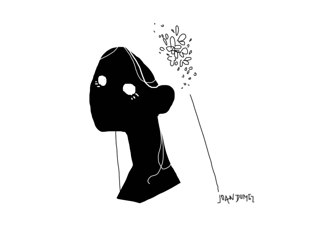 Mouse doodle #6 flowers girl mousedrawing joandumez illustration