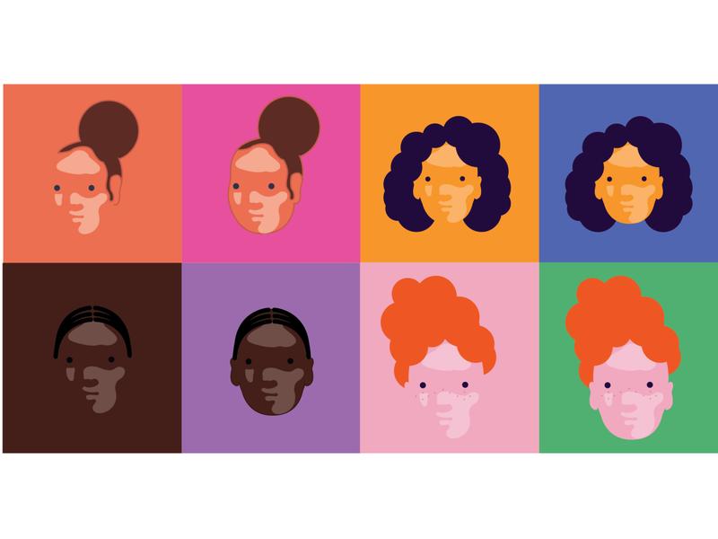 Character development flat vector design illustration