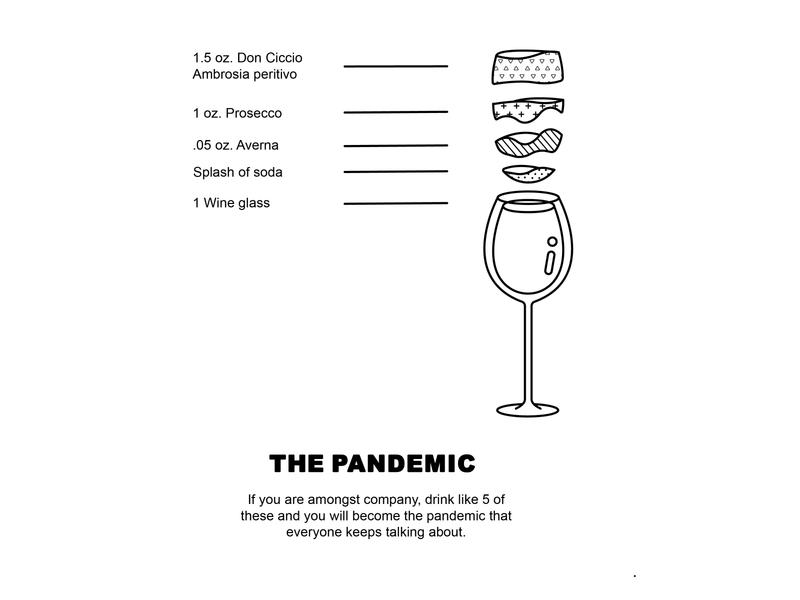 Quarantine cocktails minimal illustration vector flat design