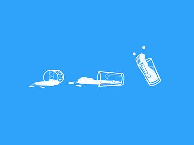 Spilled milk minimal illustration vector design