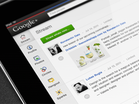 Google+ for iPad concept