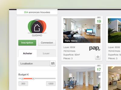 Real Estate Web App Interface