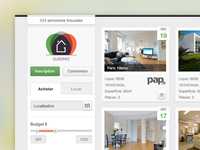 Real Estate Web App Interface