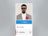 Profile Menu (Web App)