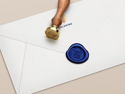 Rejected² lipiarz logo law square maze gold blue letter geometry