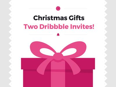 Christmas Draft invite christmas invitation vector ilustration present gift draft