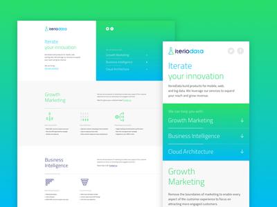 IterioData - web design responsive layout design web lipiarz logo data iteration experiments laboratory business marketing