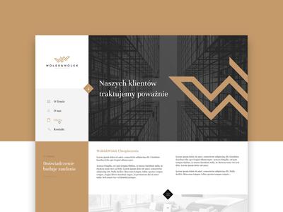 Wołek&Wołek - website grid ui layout insurance gold dark minimal classic w logo lipiarz