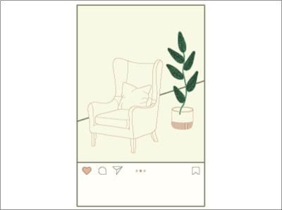 my room design branding 2d illustration flat