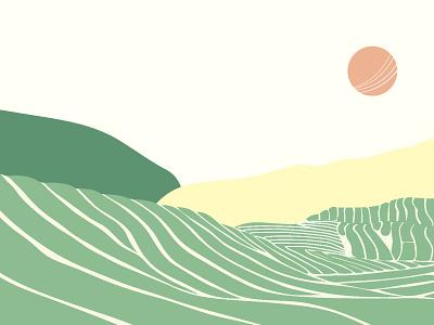 landscape illustration branding vector illustration flat